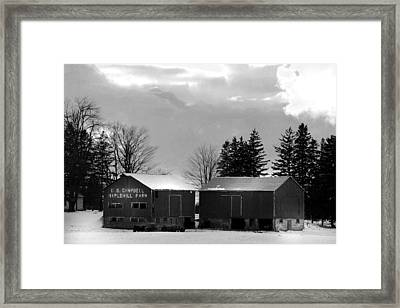 Canadian Farm Framed Print by Anthony Jones