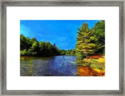 Canadian Lake #2 Framed Print