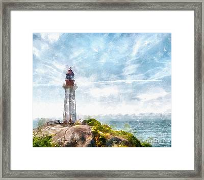 Canadian Lighthouse Framed Print by Shirley Stalter