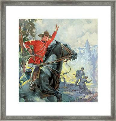 Canadian Mounties Framed Print