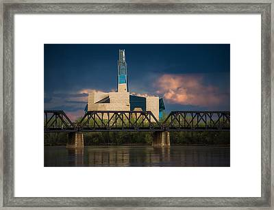 Canadian Museum For Human Rights Framed Print by Bryan Scott