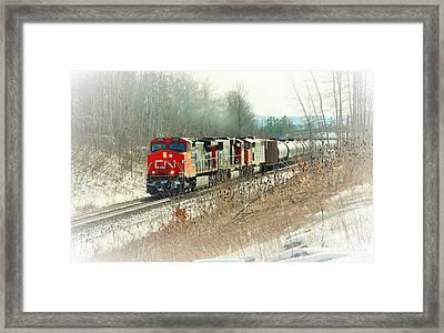 Canadian National Railway Vignette Framed Print