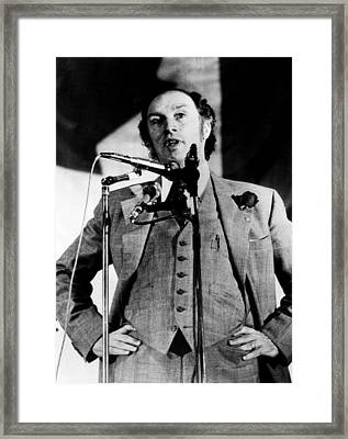 Canadian Prime Minister Pierre Trudeau Framed Print by Everett
