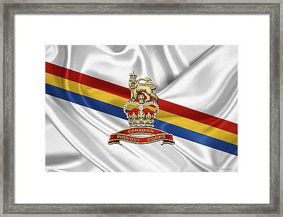 Canadian Provost Corps - C Pro C Badge Over Unit Colours Framed Print by Serge Averbukh