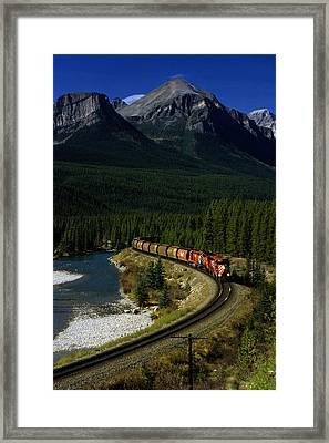 Canadian Railroad Framed Print by Susan  Benson