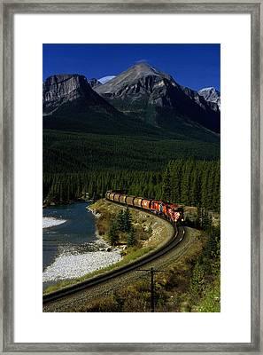 Canadian Railroad Framed Print by Susan  Benson