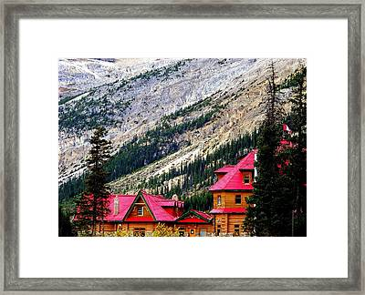 Canadian Red Framed Print