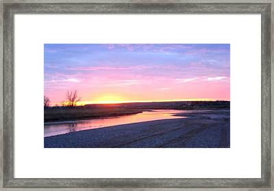 Canadian River Sunset Framed Print