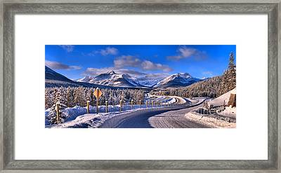 Canadian Rockies Highway Framed Print