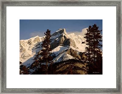 Canadian Rockies II Framed Print by Wayne Bonney