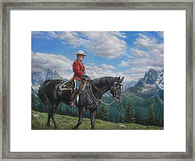 Framed Print featuring the painting Canadian Majesty by Kim Lockman