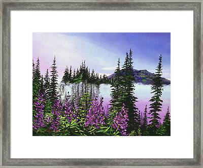 Canadian Sunrise Framed Print by David Lloyd Glover