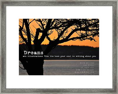 Canadian Sunset Quote Framed Print by JAMART Photography