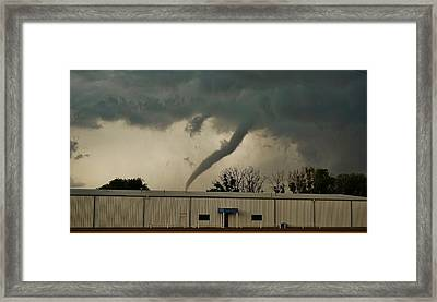 Framed Print featuring the photograph Canadian Tx Tornado by Ed Sweeney