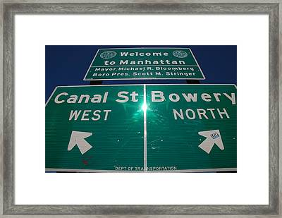 Canal And Bowery Framed Print