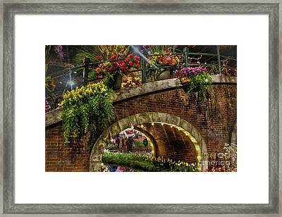 Canal And Bridge  Framed Print by Sandy Moulder