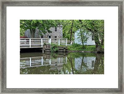 Canal At Griggstown Framed Print