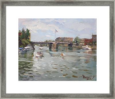 Canal At Tonawanda City Framed Print