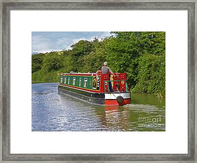 Canal Boat Framed Print by Terri Waters