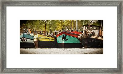 Canal Boats Framed Print