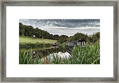 Canal Boats Framed Print by RKAB Works