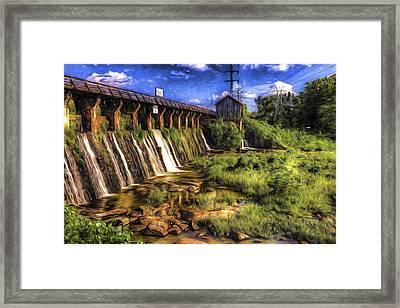 Canal Dam Framed Print