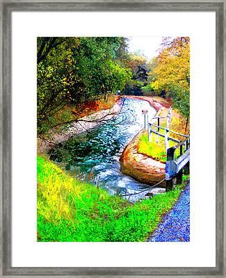 Canal Framed Print by Danielle Stephenson