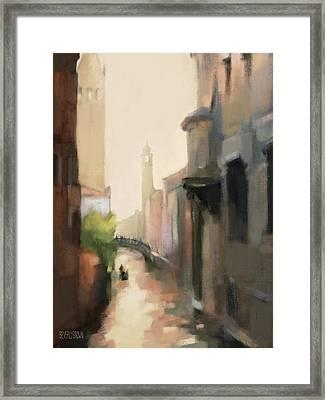 Canal Dorsoduro Venice Framed Print
