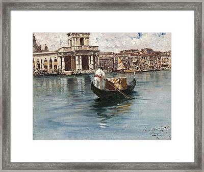 Canal Grande Framed Print by Francesco Mancini