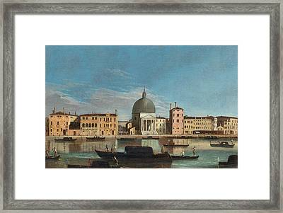 Canal Grande With The Church Of San Simeone Piccolo Framed Print