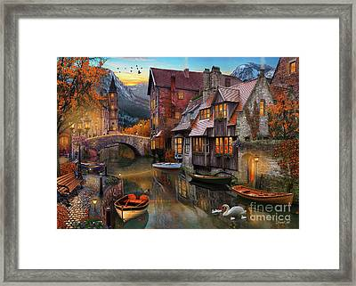 Canal Home Framed Print by MGL Meiklejohn Graphics Licensing