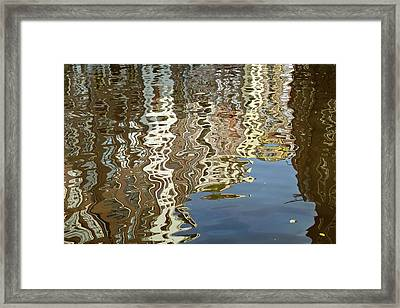 Canal House Reflections Framed Print by Joan Carroll