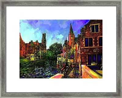 Canal In Bruges Framed Print by DC Langer