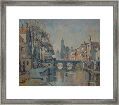 Canal In Utrecht Framed Print