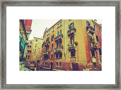 Canal In Venice, Italy Framed Print