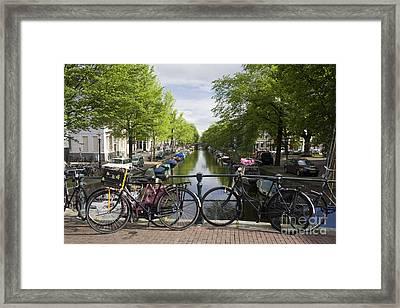 Canal Of Amsterdam Framed Print by Joshua Francia