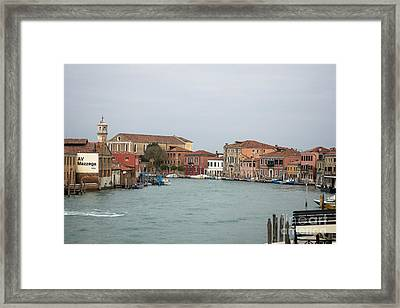 Canal Of Murano Framed Print
