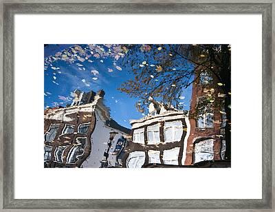 Canal Reflection Framed Print by John Battaglino