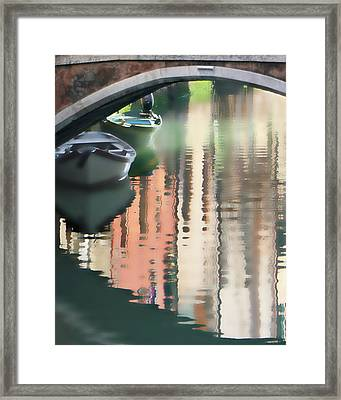Canal Reflection San Barnaba Framed Print by Vicki Hone Smith