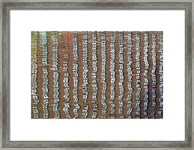 Canal Reflections 4 Framed Print