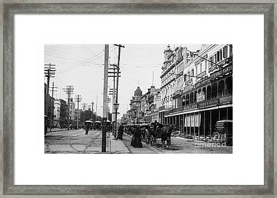 Canal St. New Orleans Ca 1880  Framed Print