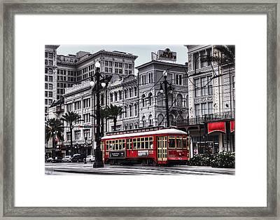 Canal Street Trolley Framed Print