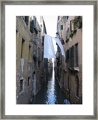 Canal. Venice Framed Print by Bernard Jaubert