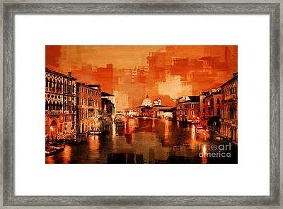 Canal View Of Venice City Framed Print