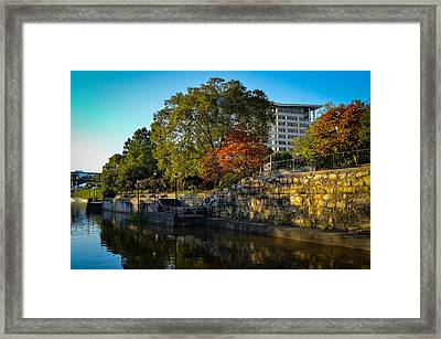 Canal Walk Framed Print