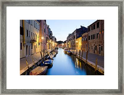 Canale Blu Framed Print