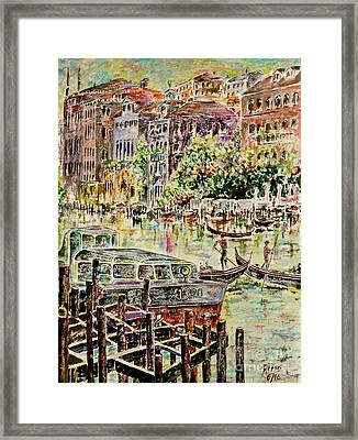 Canale Grande Framed Print by Alfred Motzer