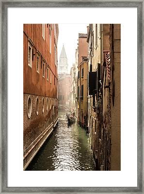 Canale Ponte De Lovo Framed Print