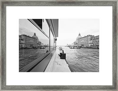 Canale Riflesso Framed Print