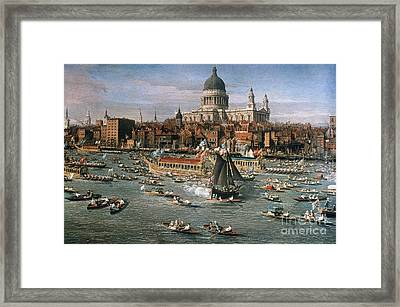 Canaletto: Thames, 18th C Framed Print by Granger